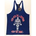 Camiseta Tirantes  Gold's Gym Azul logo Rojo.