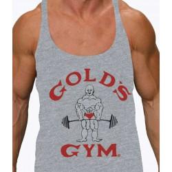 Camiseta Tirantes Joe Gold's Gym Gris.