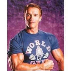 Camiseta Corta Negra World Gym.