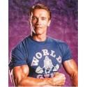 Camiseta Corta Azul World Gym.
