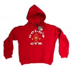 Sudadera Rojo  logo Blanco   Gold`s Gym capucha.
