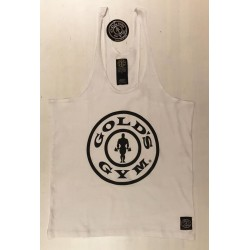 Camiseta God's Gym Tirantes Blanca Usa.