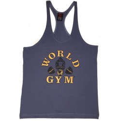 Camiseta Corta Negra World Gym.