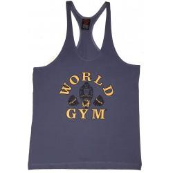 Camiseta Corta Mujer Negra World Gym.