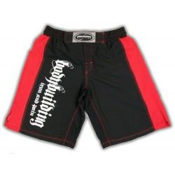 Pantalon Corto Bodybuilding Rojo Negro.