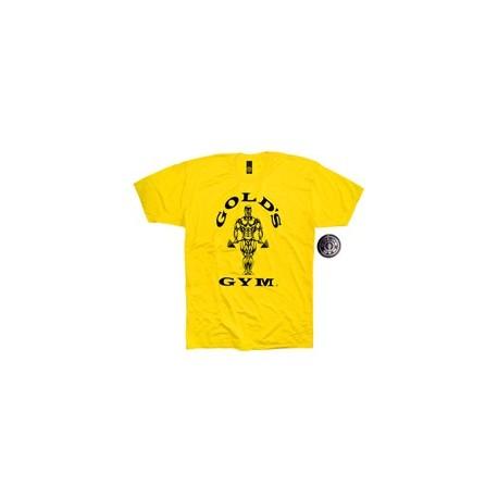 Camiseta Gold's Gym Amarilla.