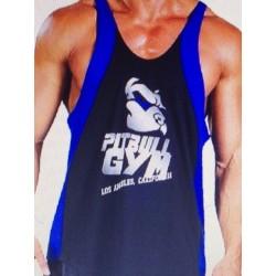 Camiseta Tirantes Pitbull Gym  Negra Azul.