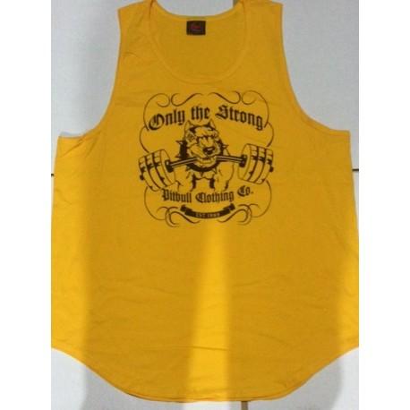 Camiseta Tirantes ancha Pitbull Gym Negra.