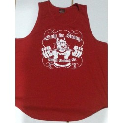 Camiseta Tirantes ancha Pitbull Gym Roja