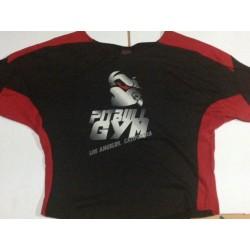Camiseta Saco Culturista  Pitbull Gym Roja.