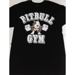 Camiseta Corta Pitbull Gym Blanca.