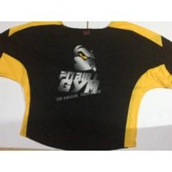 Camiseta Saco Culturista  Pitbull Gym Amarilla.