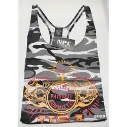 Camiseta Tirantes NPC Negra.