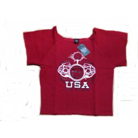 Camiseta Saco Npc Rojo.