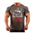 Camiseta Gigante de hierro Gris y Roja.