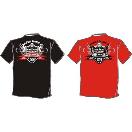 Camiseta Corta Gym Sta Aniversario  Roja.
