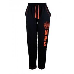 Pantalon Algodon Npc Negro y Naranja.