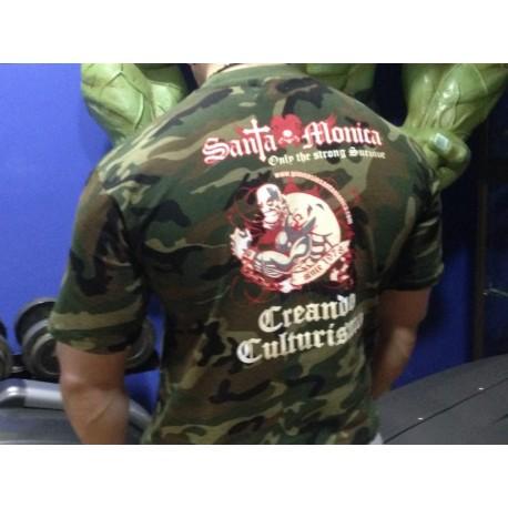 Camiseta Corta Gym Sta Monica Zombi Camuflaje Militar