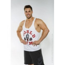Camiseta Tirantes World Gym Negra.