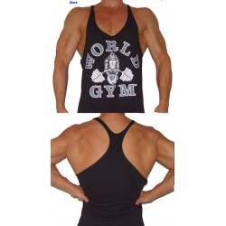 Camiseta Tirantes World Gym Negra.