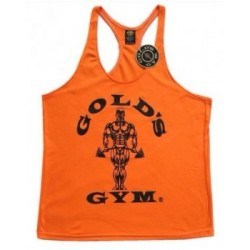 Camiseta Gold's Gym Tirantes Roja Borde Blanco.
