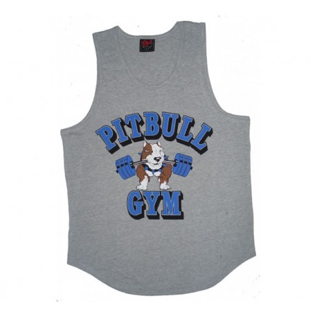 Camiseta Tirantes Anchos  Pitbull Gym  Gris.