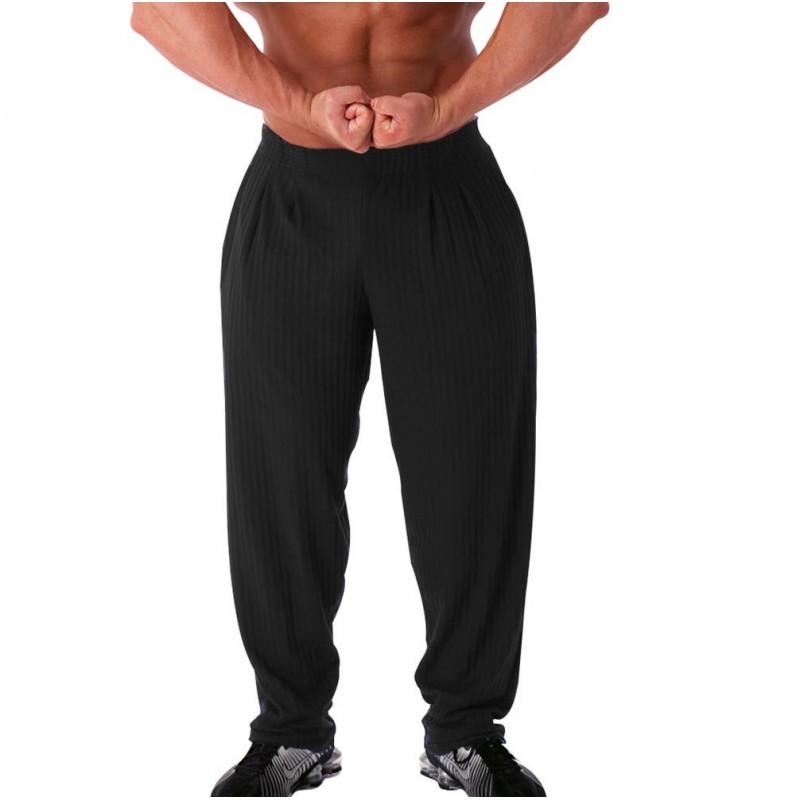 Pantalones Anchos Pitbull Gym Gris Oscuro Sportgim