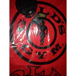 Camiseta Gold's Gym Tirantes Roja logo Negro.