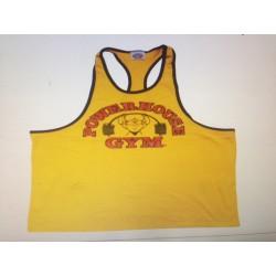 Powerhouse Gym Tirantes anchos Amarilla r Borde Negro.