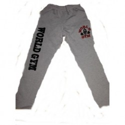 Pantalon Largo World Gym New York  Gris.