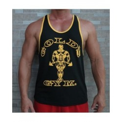 Camiseta Tirantes anchos Gold's Gym Negro borde