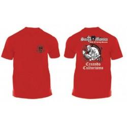 Camiseta Corta Gym Sta Monica Zombi Roja.