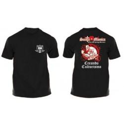 Camiseta Corta Gym Sta Monica Zombi Negra.