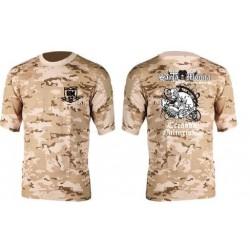 Camiseta Corta Gym Sta Monica Zombi Camuflaje Desierto.