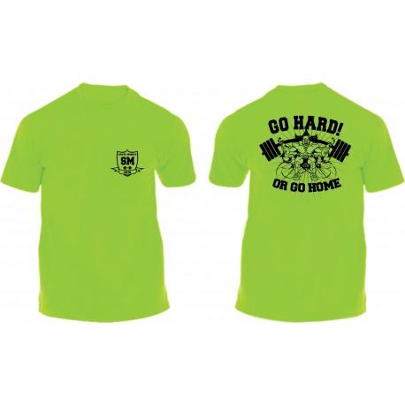 Camiseta Corta Gym Sta Monica Zombi Amarilla.