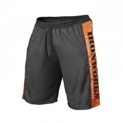 Pantalon Corto Bodybuilding Gris y Negro.