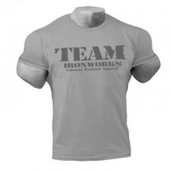 Camiseta Corta bodybuilding Gris.