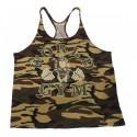 Camiseta Tirantes Worl Gym Militar.