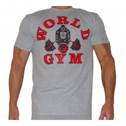 Camiseta Corta Gris  World Gym.