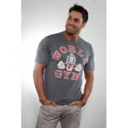 Camiseta Corta Charcoal  World Gym.