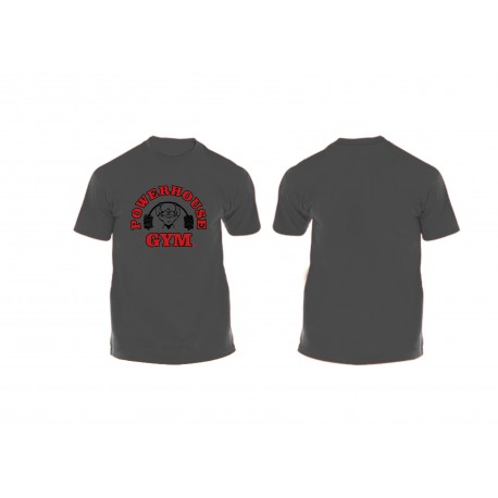 Camiseta Corta Charcoal Power House Gym.