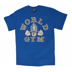 Camiseta Corta Azul World Gym.